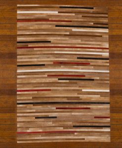 Patchwork Leather/Cowhide Rug 11P4067 140x200cm 2