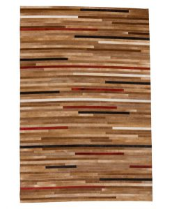 Patchwork Leather/Cowhide Rug 11P4067 140x200cm 1