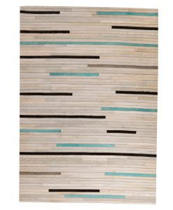Patchwork Leather/Cowhide Rug 11P4071 120x180cm 1