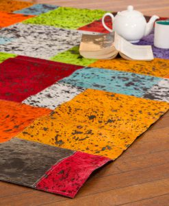 Patchwork Leather/Cowhide Rug 11P4075 140x200cm 2