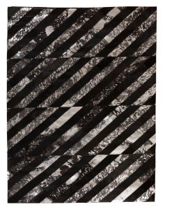 Patchwork Leather/Cowhide Rug 11P4086 140x200cm 1