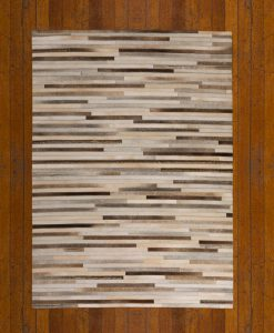 Patchwork Leather/Cowhide Rug 11P4106 120x180cm 2