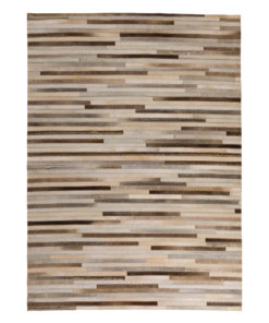 Patchwork Leather/Cowhide Rug 11P4106 120x180cm 1