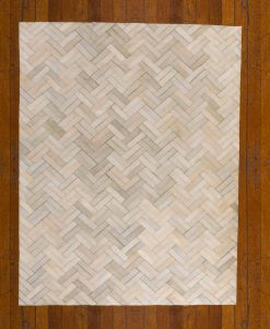 Patchwork Leather/Cowhide Rug 11P4143 140x200cm 2