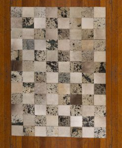 Patchwork Leather/Cowhide Rug 11P4156 120x180cm 2