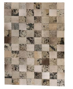 Patchwork Leather/Cowhide Rug 11P4156 120x180cm 1