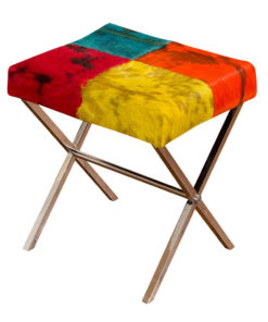Patchwork Leather Stool 12A8051 Colourful 1