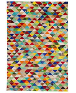 Patchwork Leather/Cowhide Rug 12P5053 170x240cm 1
