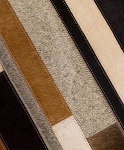Patchwork Leather/Cowhide Rug 12P5056 120x180cm 3