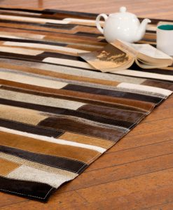 Patchwork Leather/Cowhide Rug 12P5056 120x180cm 2