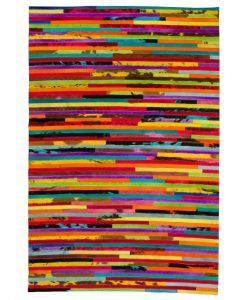 Patchwork Leather/Cowhide Rug 12P5059 140x200cm 1