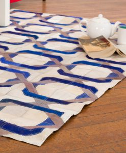 Patchwork Leather/Cowhide Rug 12P5063 120x180cm 2