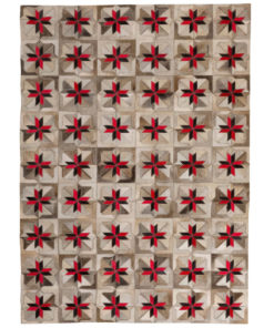 Patchwork Leather/Cowhide Rug 12P5075 120x180cm 1