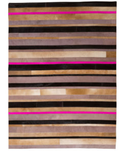 Patchwork Leather/Cowhide Rug 12P5079 120x180cm 1
