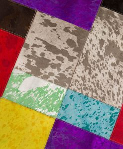 Patchwork Leather/Cowhide Rug 12P5090 120x180cm 3