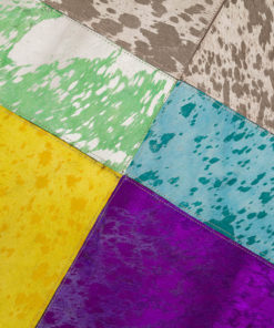 Patchwork Leather/Cowhide Rug 12P5090 120x180cm 2