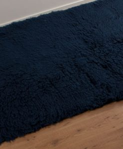 Navy Blue Flokati Rug 2800g/m2 110x170cm 2