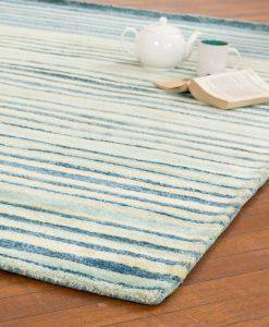 Stripe Rug Wool Jute Bamboo 160x230cm Adrift 2