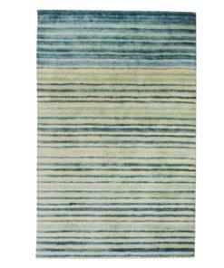 Stripe Rug Wool Jute Bamboo 160x230cm Adrift 1