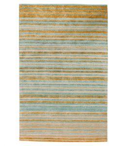 Stripe Rug Wool Jute Bamboo 130x190cm Giant Goldfish 1