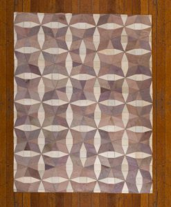 Patchwork Leather/Cowhide Rug HARRODS 120x180cm 2