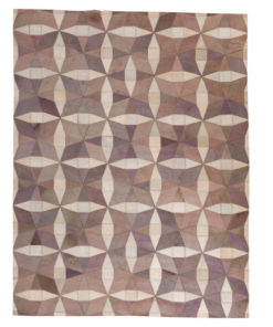 Patchwork Leather/Cowhide Rug HARRODS 120x180cm 1