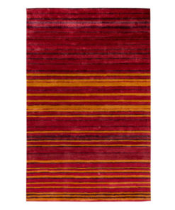 Stripe Rug Wool Jute Bamboo 130x190cm Hot Sun 1