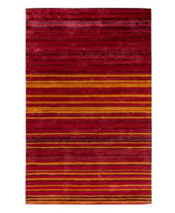 Stripe Rug Wool Jute Bamboo 160x230cm Hot Sun 1