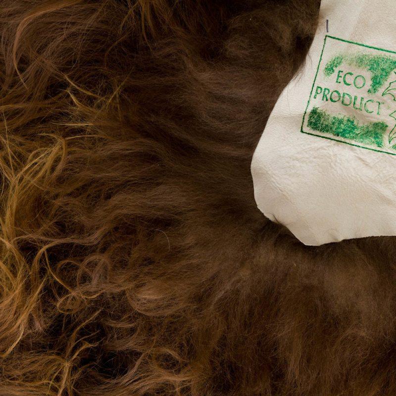 Icelandic Sheepskin Natural Rusty Brown 110120cm 3