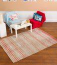 Stripe Rug Wool Jute Bamboo 160x230cm Japan Lover 5