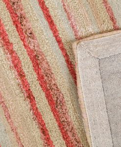 Striped Wool Jute Bamboo Rugs
