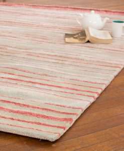 Stripe Rug Wool Jute Bamboo 160x230cm Japan Lover 2