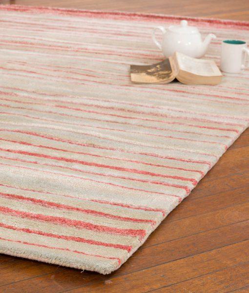 Stripe Rug Wool Jute Bamboo 160x230cm Japan Lover 2