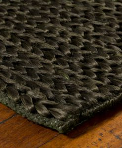 Hemp Braid Rug Dark Green 140x200cm 1