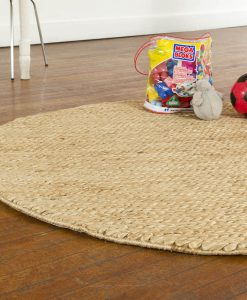 Hemp Braid Rug Round Natural 150cm 2