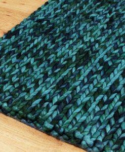 Knit Melange Turquoise 170x240cm 2