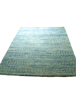 Knit Turquoise Rug