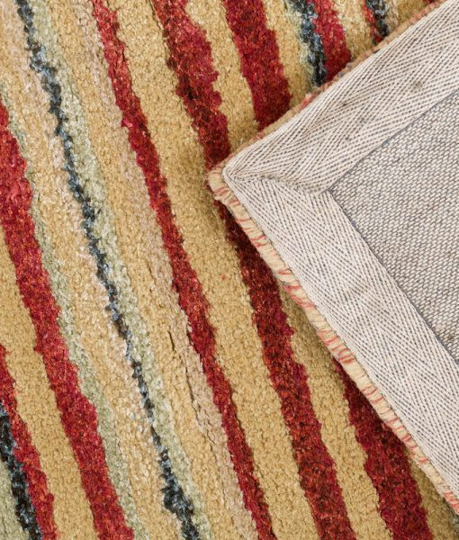 Stripe Rug Wool Jute Bamboo 160x230cm Lincoln 3