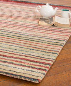 Stripe Rug Wool Jute Bamboo 130x190cm Lincoln 2