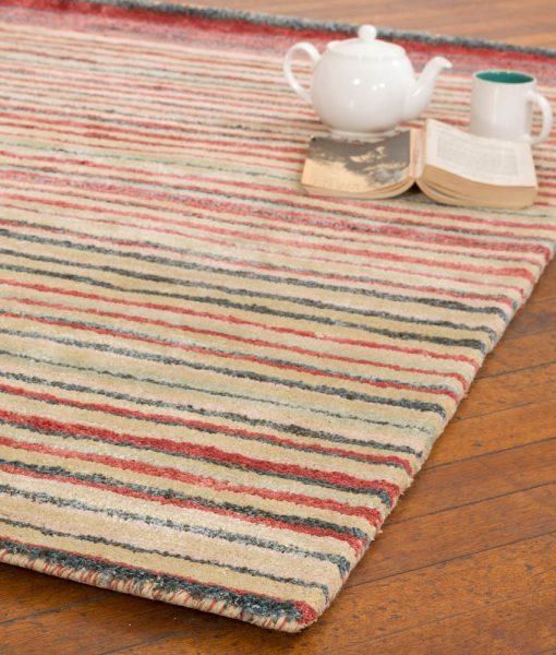 Stripe Rug Wool Jute Bamboo 160x230cm Lincoln 2