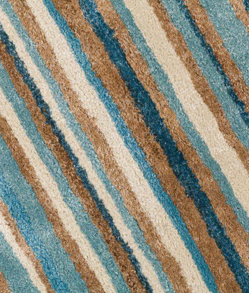 Stripe Rug Wool Jute Bamboo 160x230cm Nautical 4