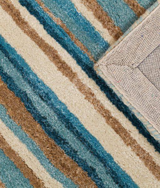 Stripe Rug Wool Jute Bamboo 160x230cm Nautical 3