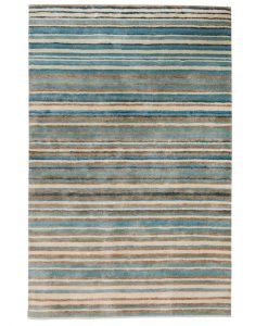 Stripe Rug Wool Jute Bamboo 160x230cm Nautical 1
