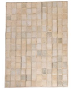 Patchwork Leather/Cowhide Rug PROMENDE 120x180cm 1