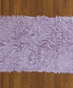 Flokati Rug 1400g/m2 60x120cm Purple 2