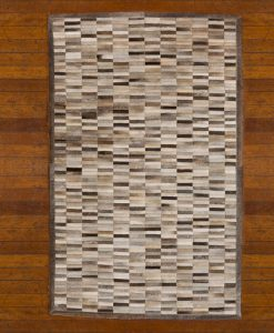 Patchwork Leather/Cowhide Rug SGP1202GREY 120x180cm 2