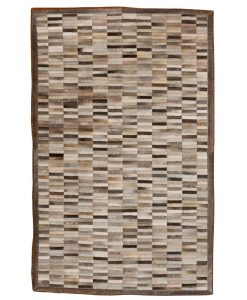 Patchwork Leather/Cowhide Rug SGP1202GREY 120x180cm 1