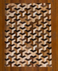Patchwork Leather/Cowhide Rug SGP1618 120x180cm 2