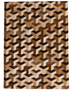 Patchwork Leather/Cowhide Rug SGP1618 120x180cm 1