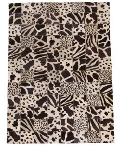 Patchwork Leather/Cowhide Rug SGP2015 120x180cm 1